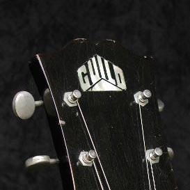 1953 Guild X-175 headstock inlay. This is just one piece of Pearl