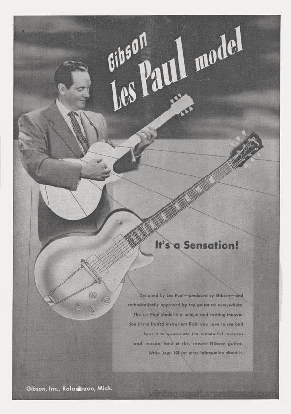 Gibson advertisement (1953) Gibson Les Paul Model