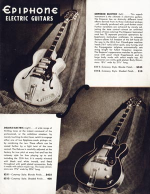 Epiphone Electric Acoustic Guitars >> Vintage Guitar and Bass