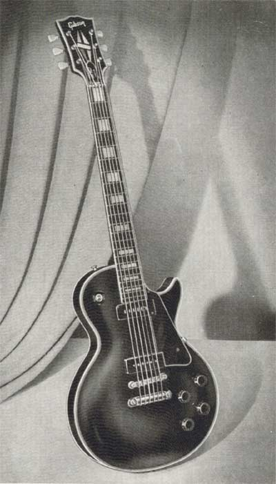 The Les Paul Custom in the 1955 Gibson catalogue