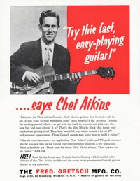 "Gretsch Chet Atkins Hollowbody / Nashville 6120 - ""Try this Fast Easy-Playing Guitar"" Says Chet Atkins"