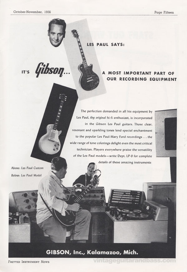 Gibson advertisement (1956) Les Paul Says: It