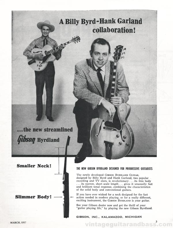 Gibson advertisement (1957) A Billy Byrd-Hank Garland Collaboration