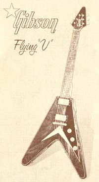 Gibson Flying V from the March 1958 catalogue