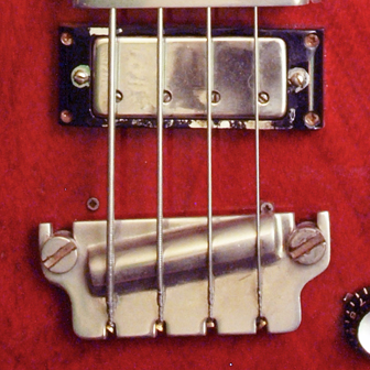 1961 Gibson EB3 bridge