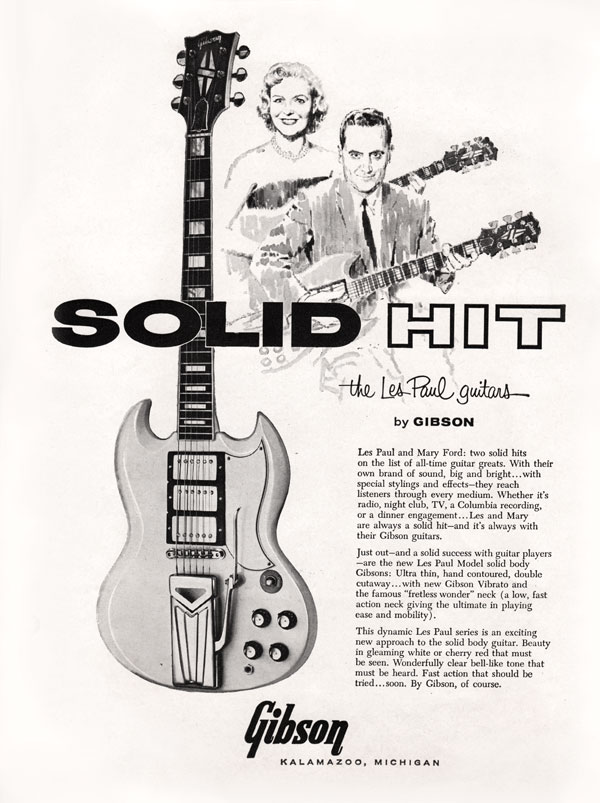 Gibson advertisement (1961) Solid Hit