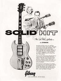1961 Gibson advertisement with Les Paul and Mary Ford