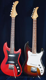 1962 and 1965 Vox Ace guitars