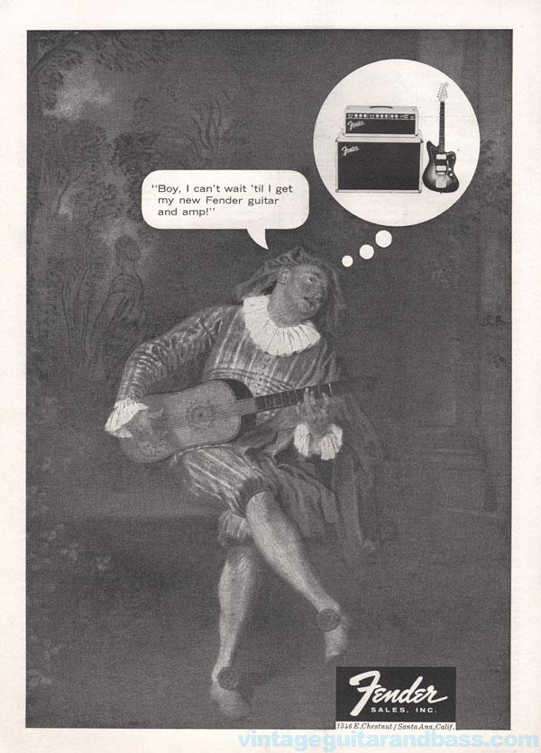 Fender advertisement (1962) Boy I Can