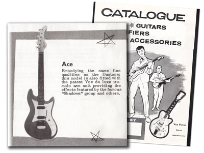 "The Vox Ace from the 1962 Vox ""Choice of the Stars"" catalogue"