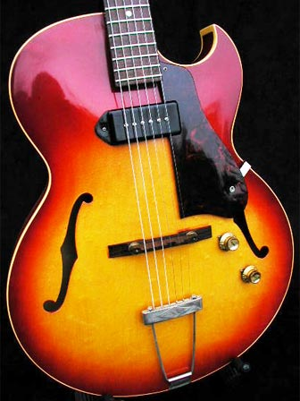1962 Gibson ES-125 TC body detail