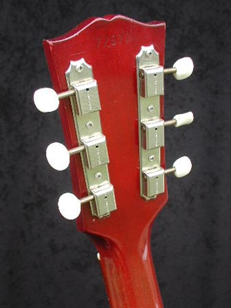 1962 Gibson ES-125 TC headstock rear, with serial number