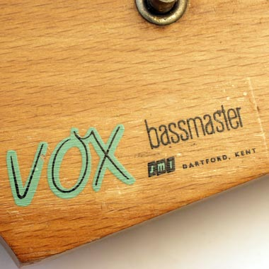 1963 Vox Bassmaster bass Vox headstock decals