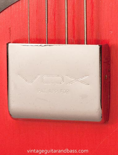 1963 Vox Clubman bass - bridge cover detail