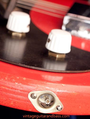 1963 Vox Clubman bass - Vox coaxial style output jack
