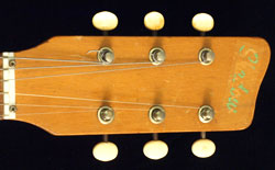 Vox Shadow front of headstock