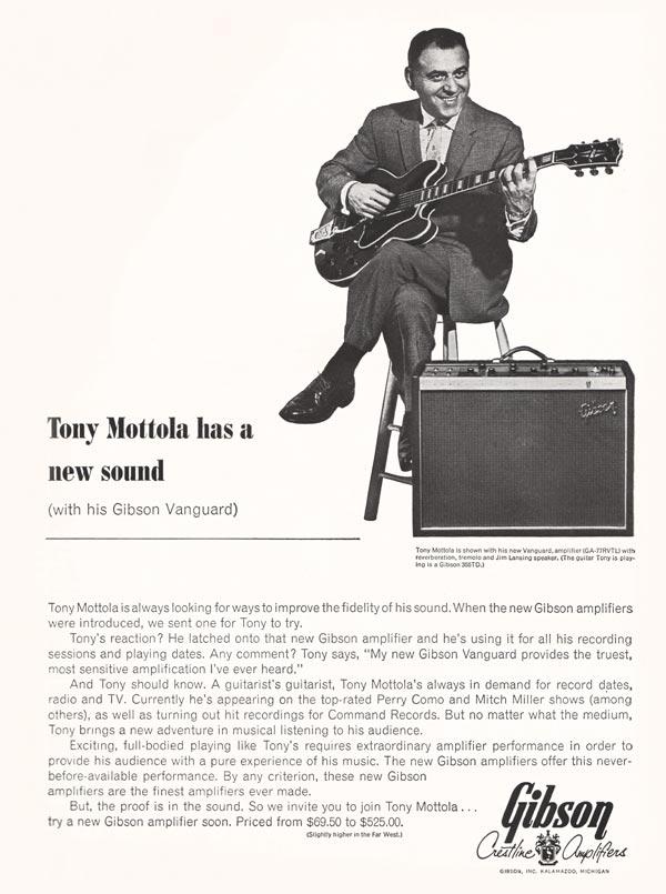 Gibson advertisement (1963) Tony Mottola has a New Sound