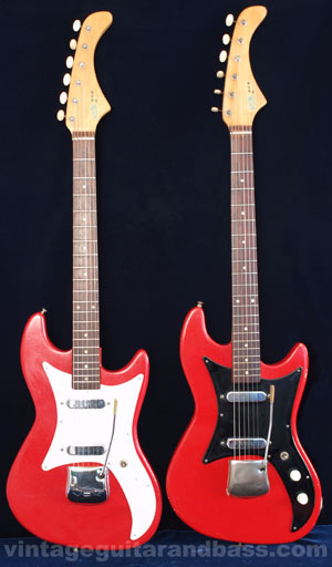 Two 1963 Vox Ace solid body electric guitars
