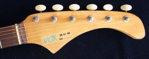 1963 Vox Ace front headstock detail