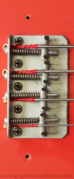 Vox Symphonic bass bridge detail