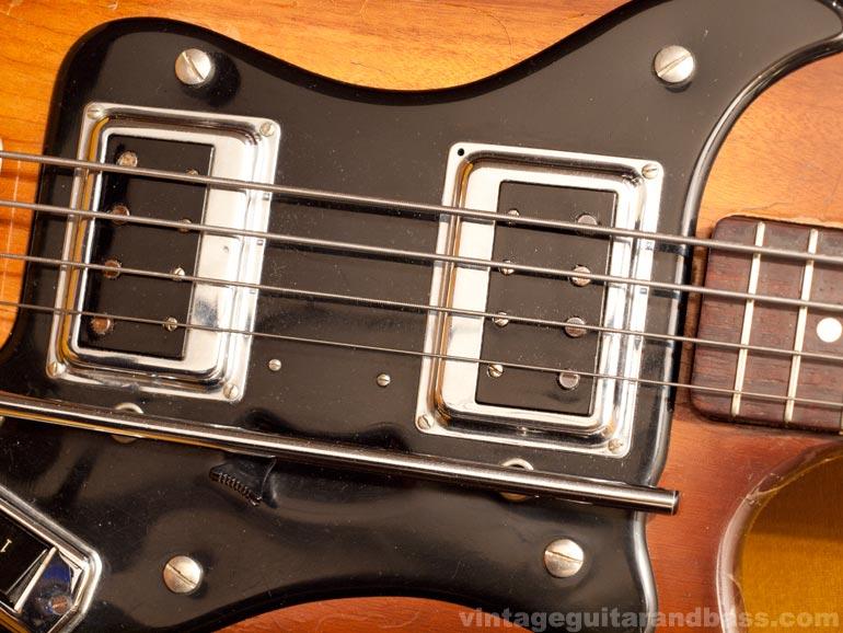 Bi-sonic pickups installed in a 1964 Hagstrom Coronado bass