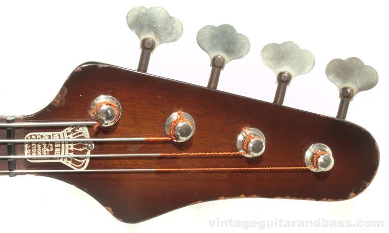 1964 Coronado bass headstock front view