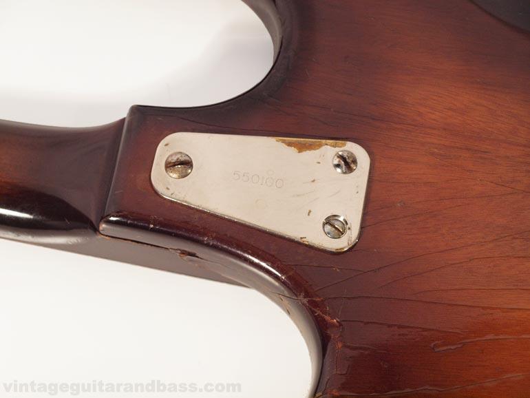 Coronado bass neckplate with serial number