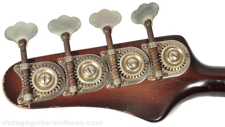 1964 Coronado bass headstock reverse view