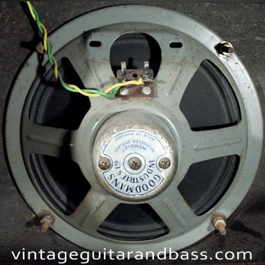 Goodmans speaker fitted to a 1964 Vox AC4 amp