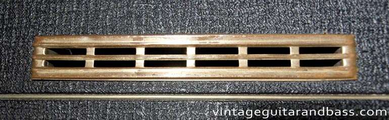 Brass vent covers from a vintage Vox AC4 amp