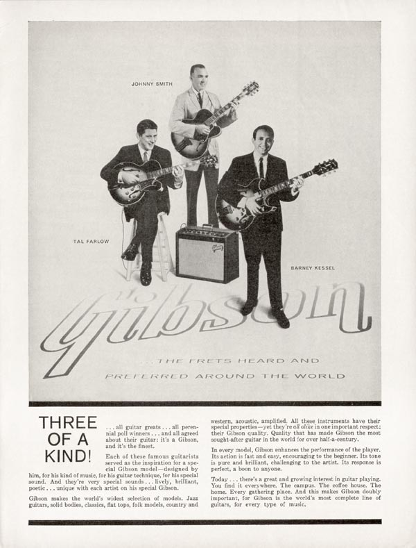 Gibson advertisement (1965) Three of a Kind