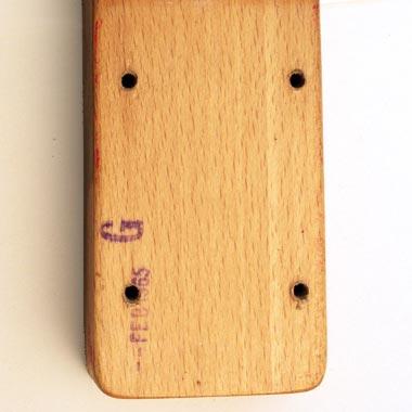 1965 Vox Clubman bass - heel detail