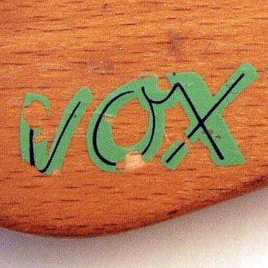 1965 Vox Clubman bass - Vox headstock logo