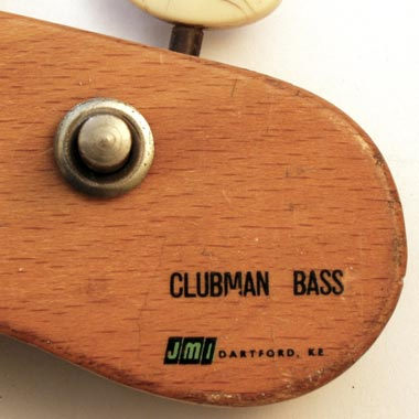 1965 Vox Clubman bass - headstock detail: JMI Dartford Kt