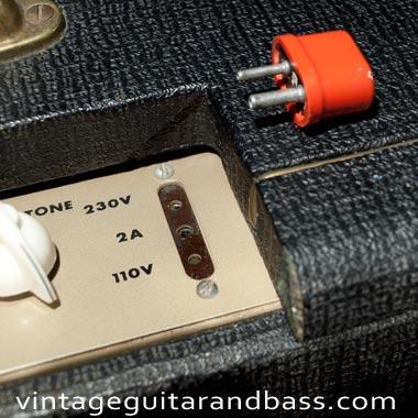 Fuse of a UK-built Vox AC4 guitar amp