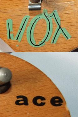 Vox Ace headstock logo