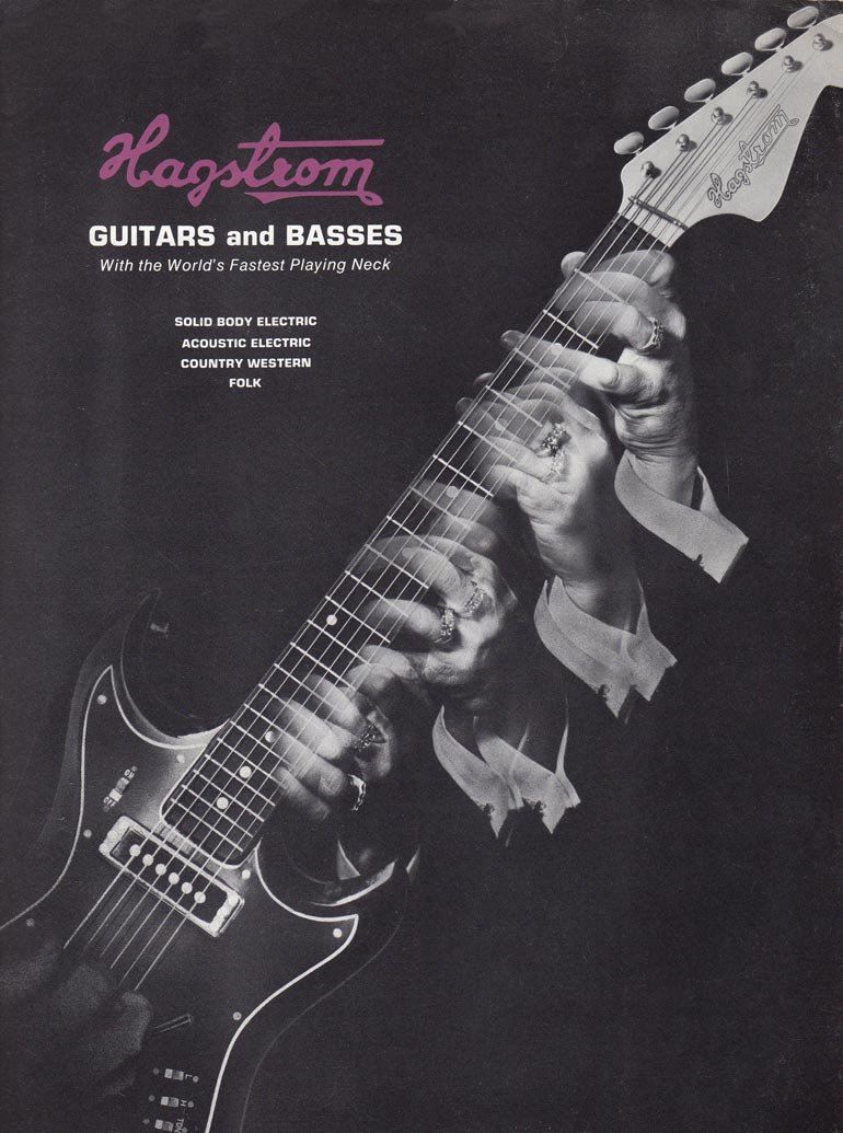 1966 Hagstrom guitar catalog - Front cover