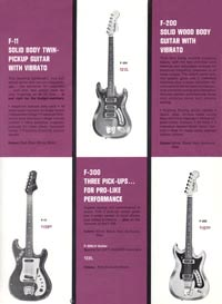 1966 Hagstrom guitar catalog page 3