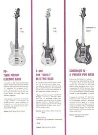 1966 Hagstrom guitar catalog page 5