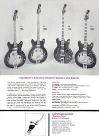 1966 Hagstrom guitar catalog page 7