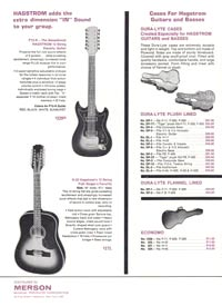 1966 Hagstrom guitar catalog page 8