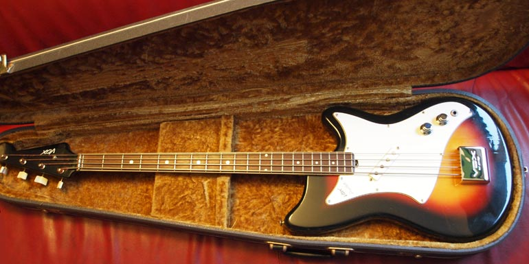 1966 Vox Panther bass in original case