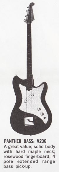 1965 Vox Panther bass catalog image