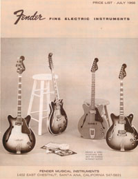 July 1966 Fender Price List