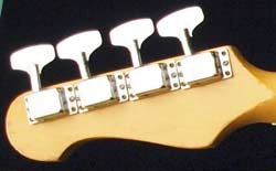 Kalamazoo KB bass headstock - rear view