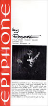 1966 Rosetti (UK) Epiphone guitar catalogue
