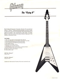 1966 publicity flyer for the newly relaunched Flying V guitar