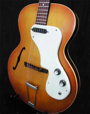 1966 Epiphone Granada front view showing scratchplate and controls