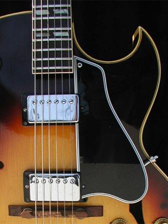 1966 Gibson ES-175D body detail