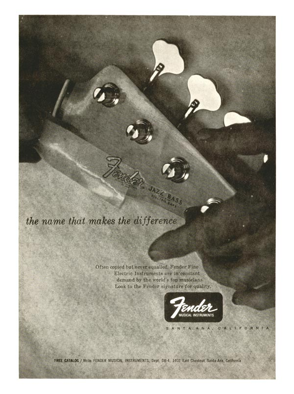 Fender advertisement (1966) The Name that Makes the Difference
